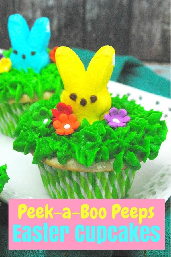 Peek a Boo Peeps Cupcake and lots of great Easter party ideas for kids