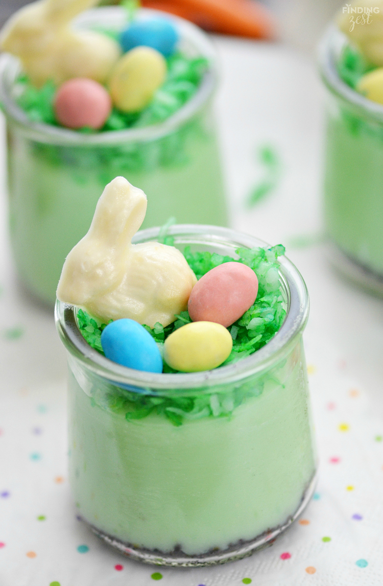 Pistachio Pudding Dessert Parfaits for Easter and other cute and delicious Easter desserts that are perfect for an Easter party!