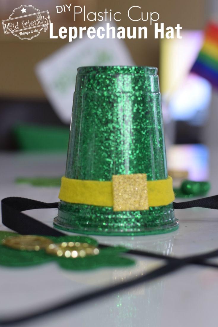 Plastic Cup Leprechaun Hat St Patrick's Day craft for kids