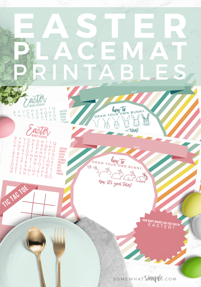 Printable Easter Placemats and lots of great Easter party ideas for kids