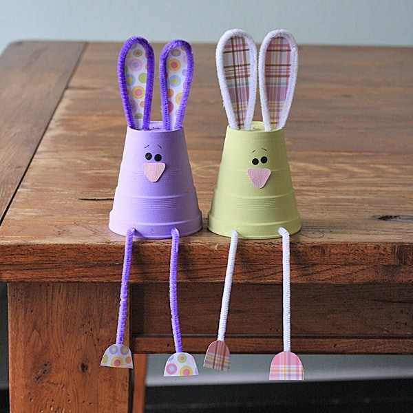 foam cup bunnies and other fun and easy Easter crafts for kids