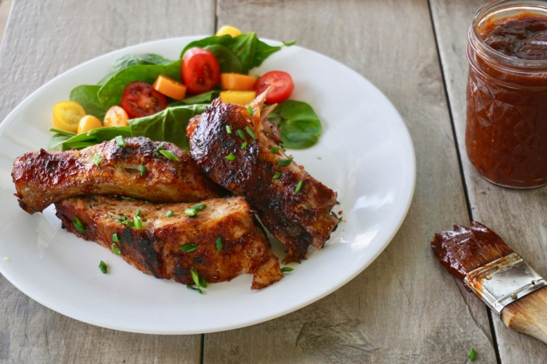 Juicy and Tender Mango BBQ Grilled Ribs