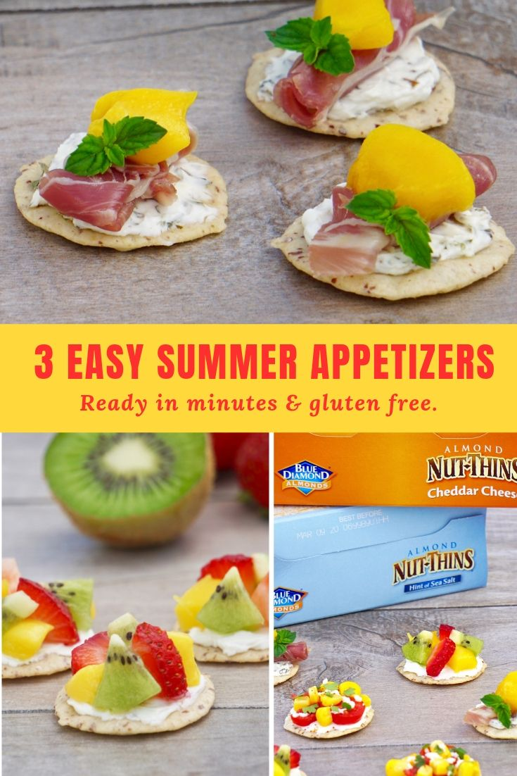 Easy summer appetizers. Delicious cracker topping ideas for summer.