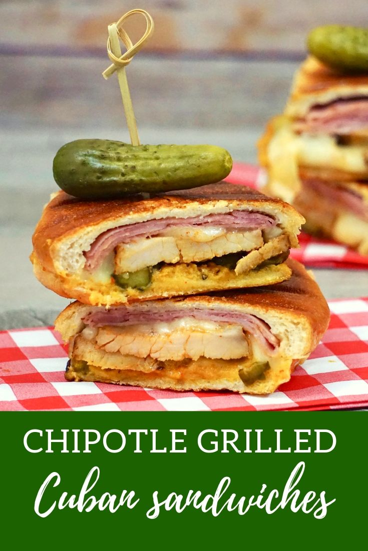 Grilled Chipotle Cuban Sandwiches