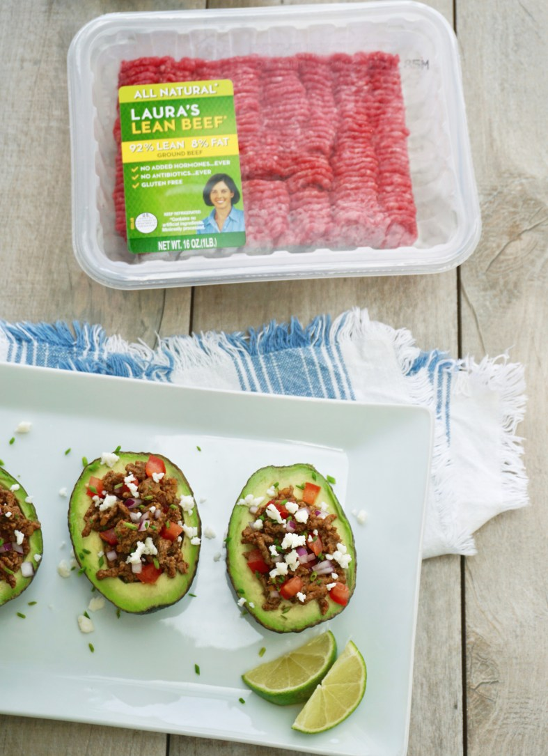 spicy chipotle taco stuffed avocados
