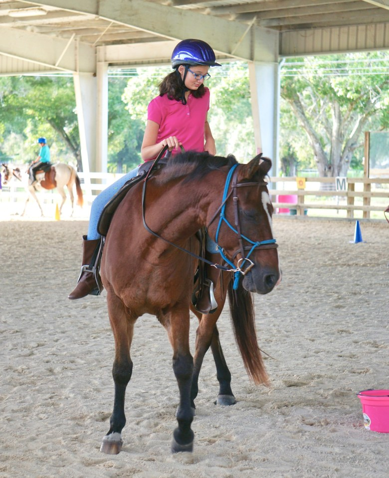 teen girl therapeutic horseback riding