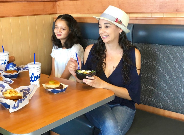 family eating at Culver's