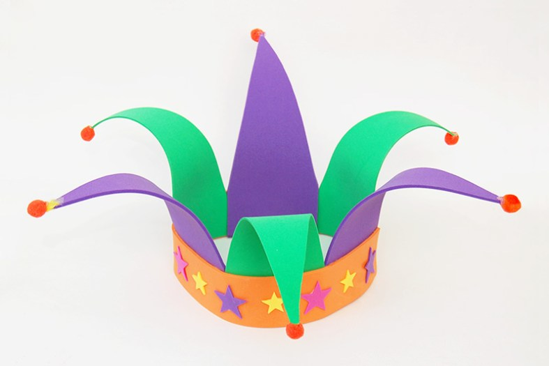 Jester Hat Craft and other Carnaval crafts for kids
