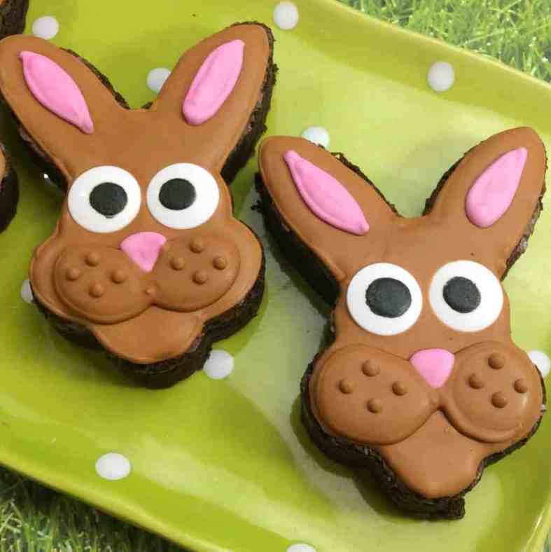 Beautiful Eater bunny brownies