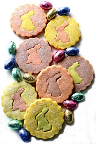Easter bunny shortbread cutout cookies