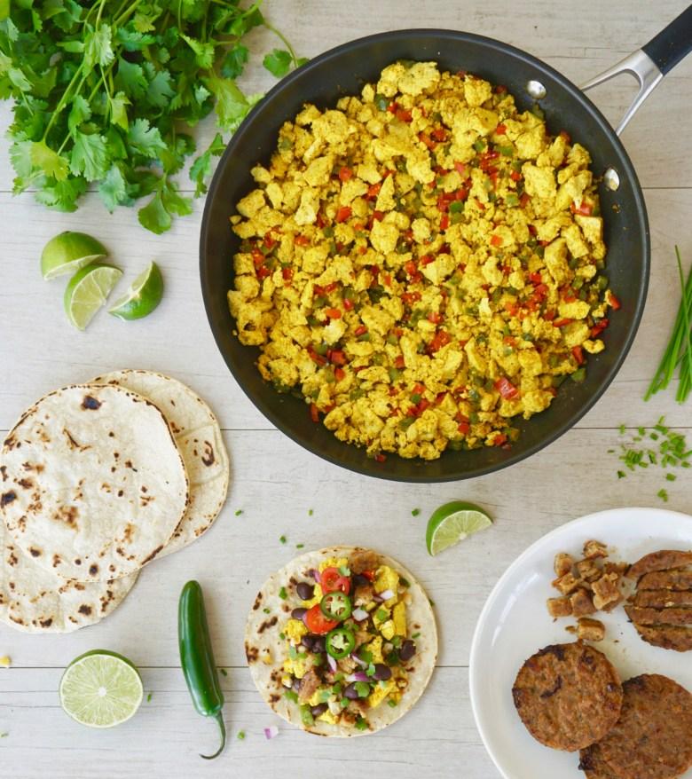 tofu scramble vegan breakfast tacos
