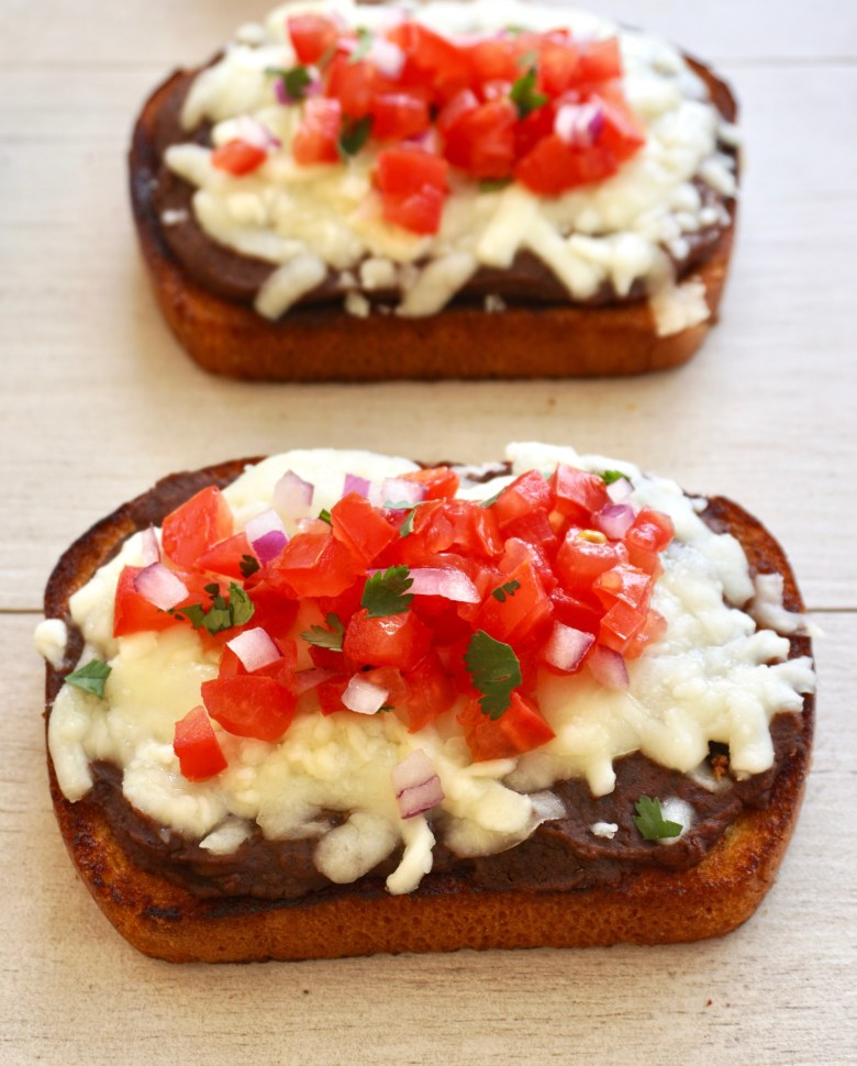 traditional Mexican molletes
