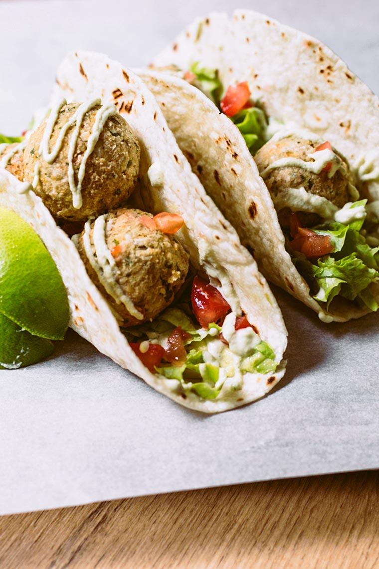 Vegan Falafel Tacos