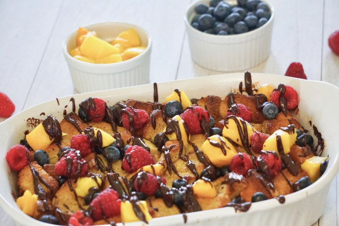 Mango and Berries French Toast Casserole