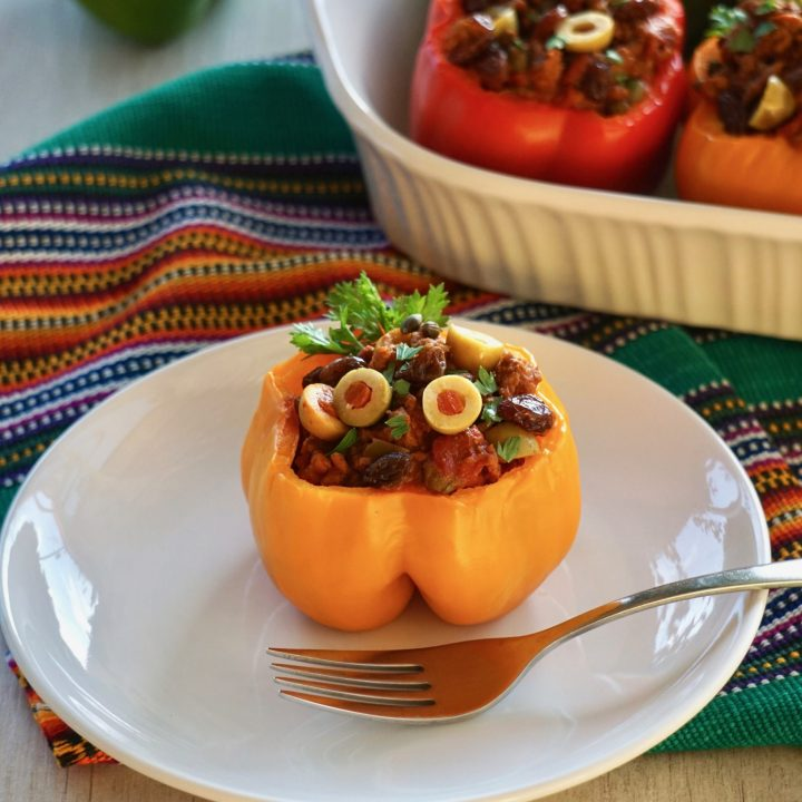 picadillo stuffed peppers recipe with no rice