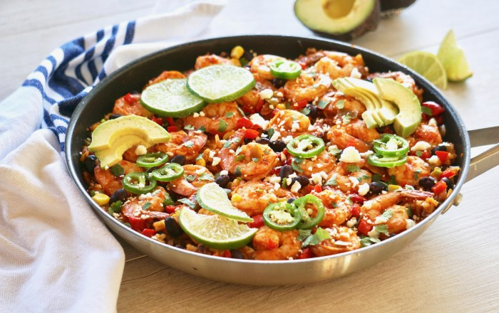 spicy shrimp and rice skillet