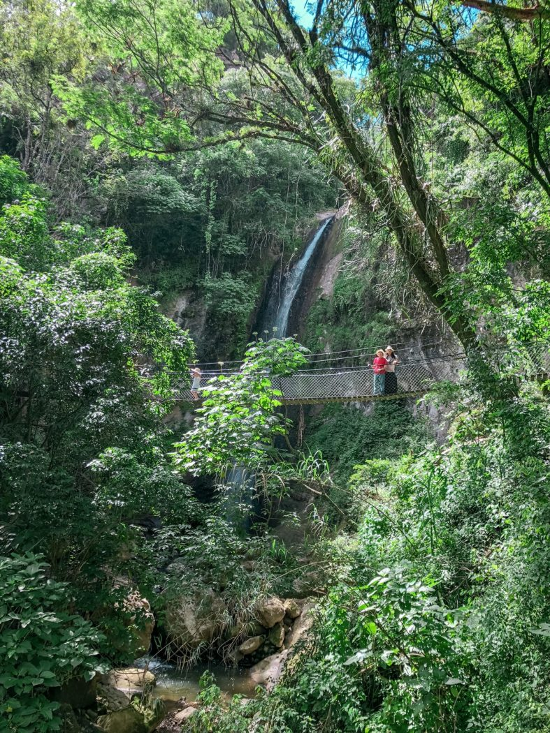 waterfalls, hiking trails and hanging bridges in Guatemala
