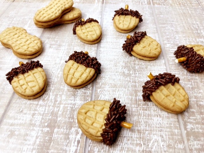 Nutter Butter Acorn Thanksgiving Cookie recipe