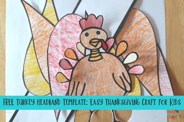 Turkey Headband Craft and template