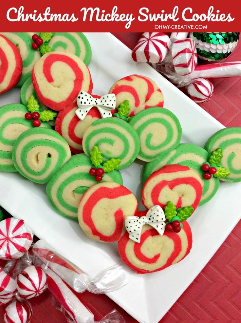 Christmas Mickey Swirl Cookie Recipe