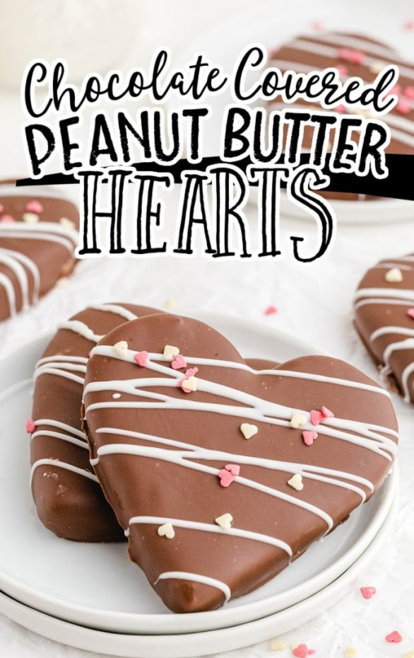Chocolate Covered Peanut Butter Hearts