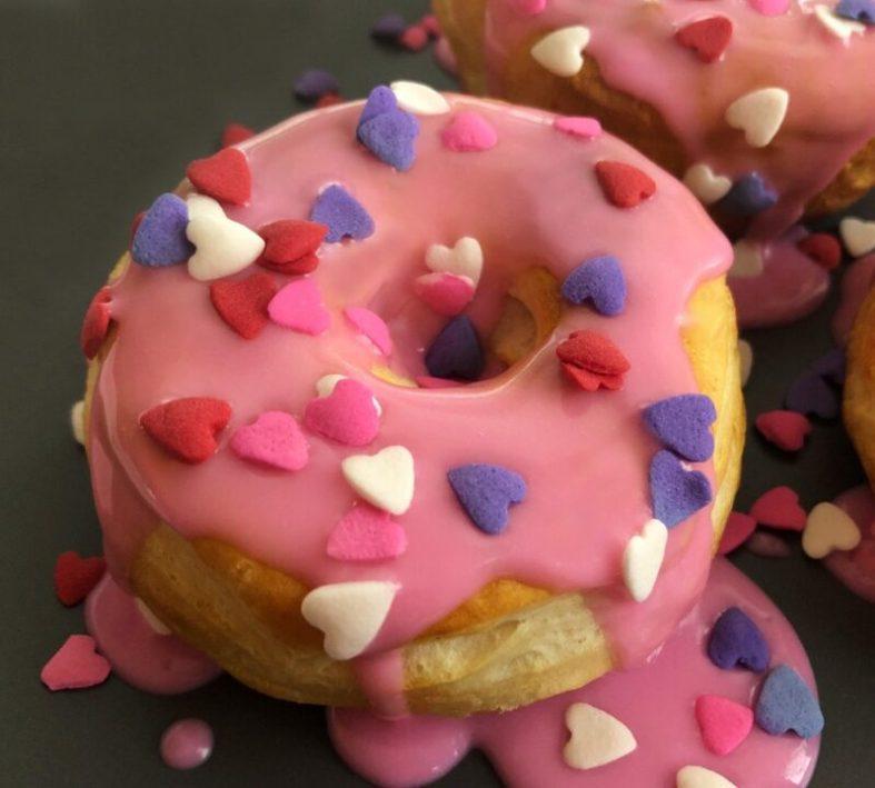 valentine air fryer donut