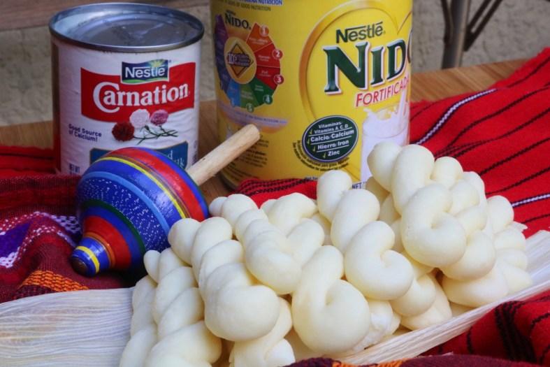 Ingredients for Guatemalan canillitas de leche recipe
