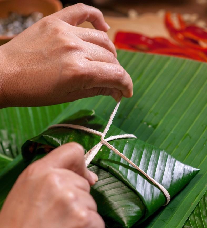 Guatemalan banana leaf tamales recipe
