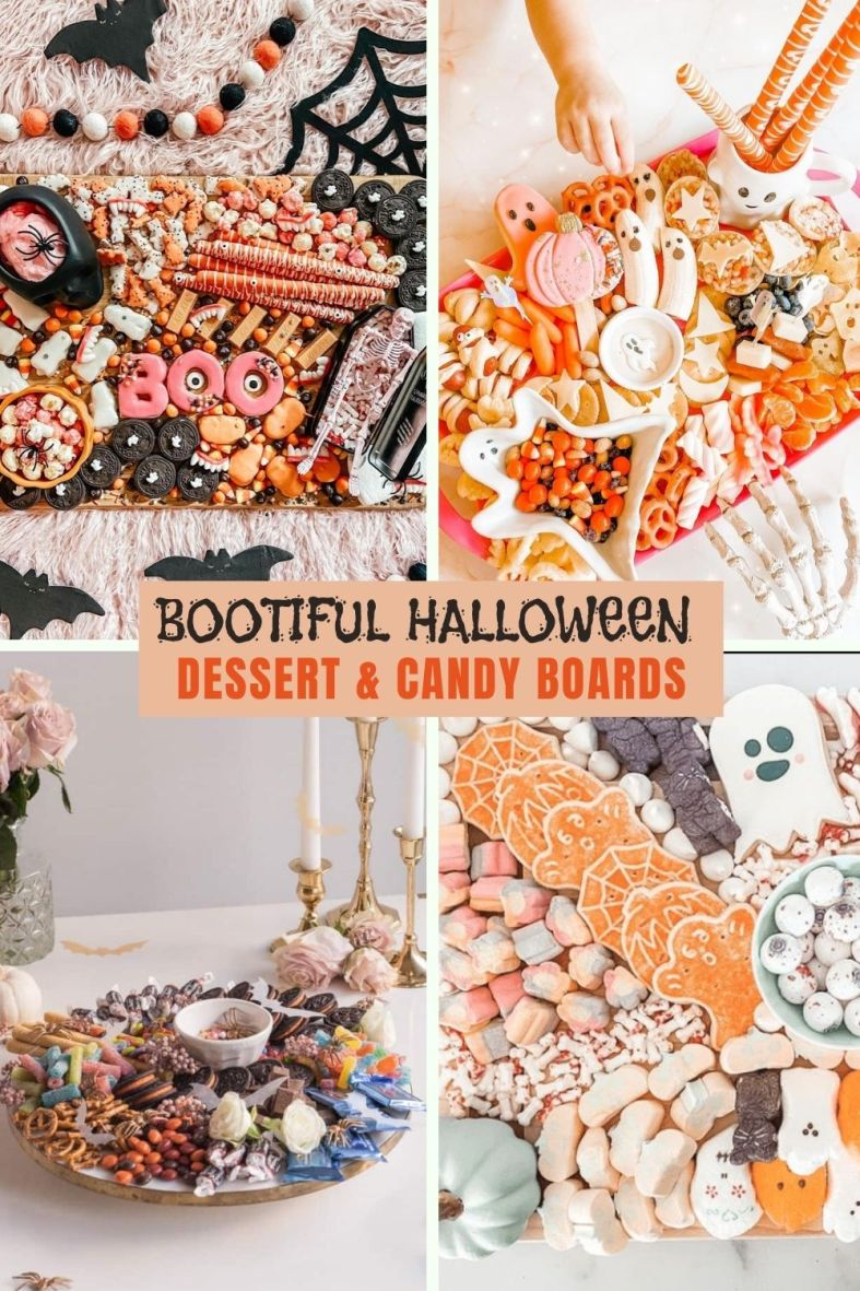 The most amazing Halloween dessert board and Halloween candy trays