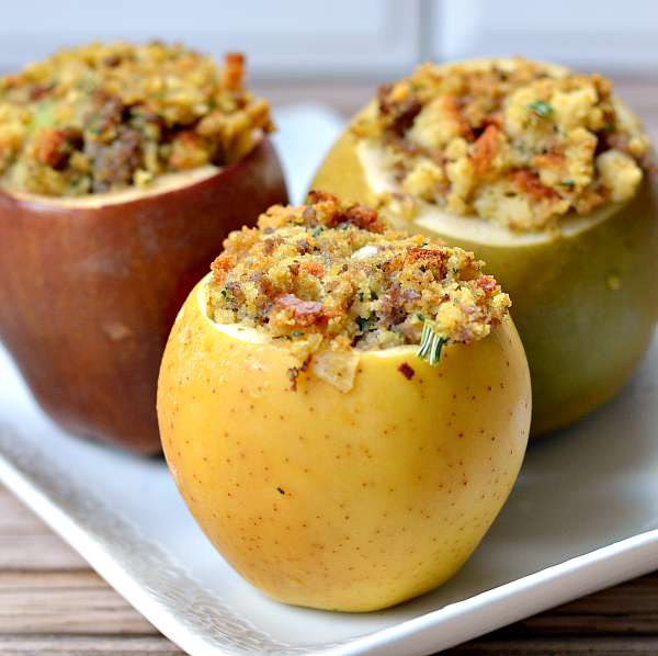 Baked Apples With Sausage Stuffing