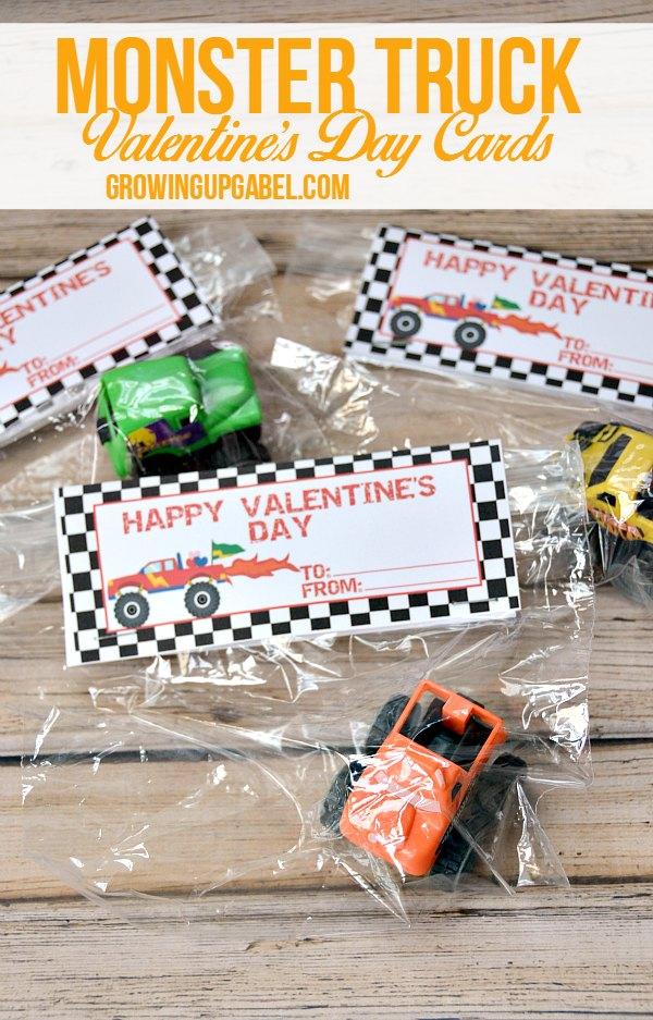 Monster Truck Boys Valentines Free Printable