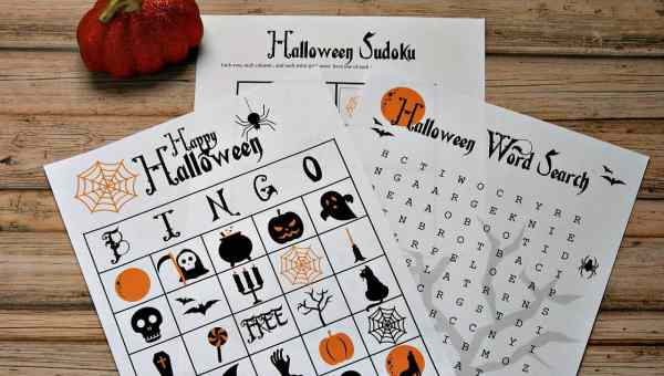 free halloween party games printables # 38