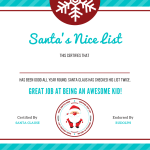 Free Letter To Santa Template With Nice List Certificate