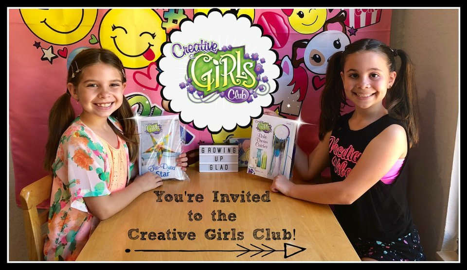 gift idea for kids, subscription box for girls, arts and crafts, creativity, YouTube Kids, YouTube Channel, YouTube, Growing Up Glad, Creative Girls Club, Annie's Çrafts, 2018