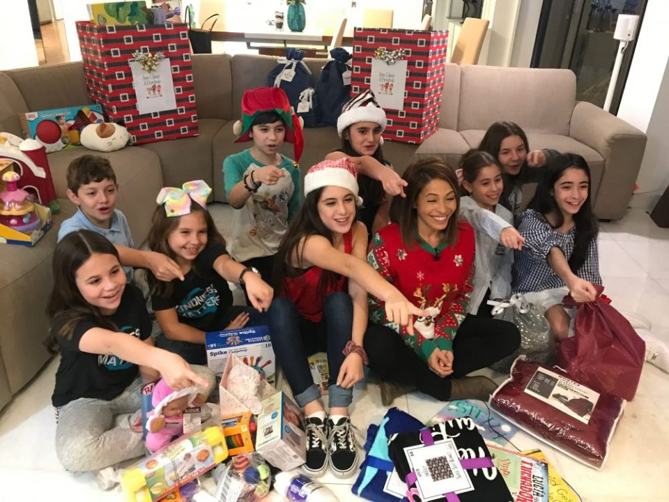 ava claus and friends, ava claus, kids helping kids, kindnessmatters365.org, kindness matters, toy drive, broward childrens center, growing up glad, Fierce Female Friday, Girl Power, 2018, Arlene Borenstein, NBC6,