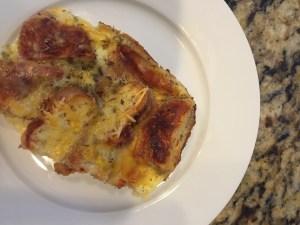 leftover pizza breakfast bake