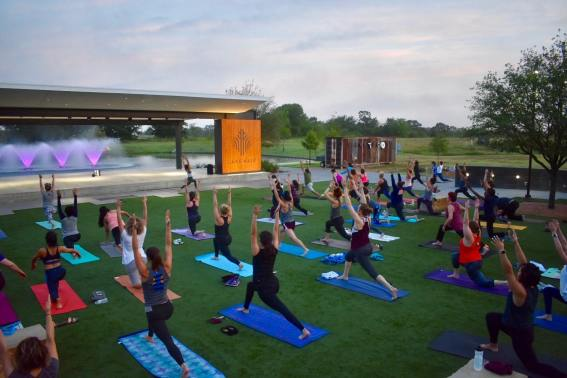 International Day of Yoga 2018 - Lake Walk Town Center Photo Credit