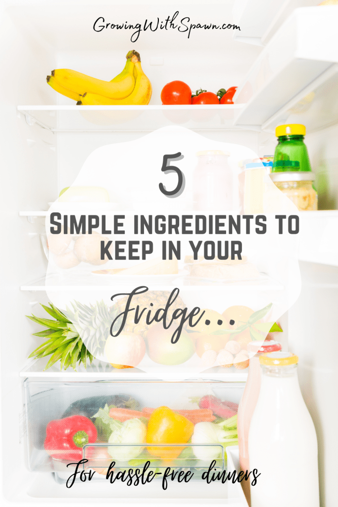 5 Simple Ingredients to keep in your fridge - Growing With Spawn