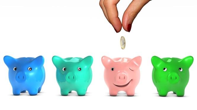 Financial options in life, choosing piggy banks