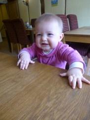 Poppy has a new cheesy grin