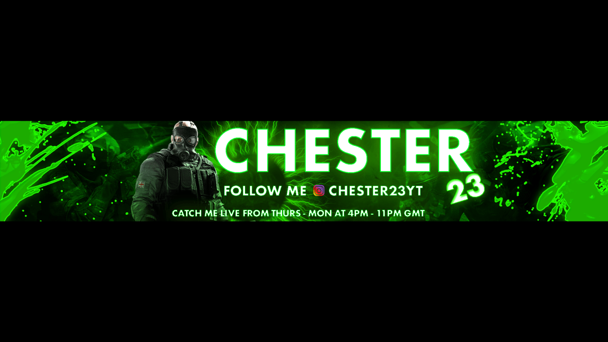 Chester23 channel art/banner/ branding
