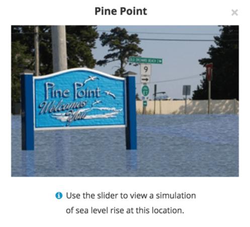 NOAA Free Sea Level Rise Tool