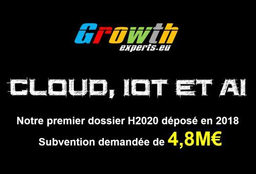 Premier dossier déposé de Growth-Experts. Domaine Cloud, IoT et AI.