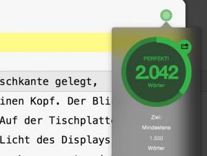 Zielfunktion in Ulysses für Mac OS