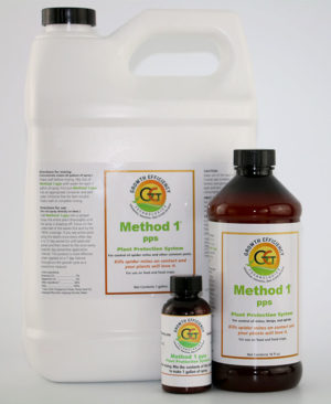 Method 1-pps (group) is a nontoxic treatment for the control of spider mites, thrips, whiteflies, aphids, mealy bugs and other common plant pests.