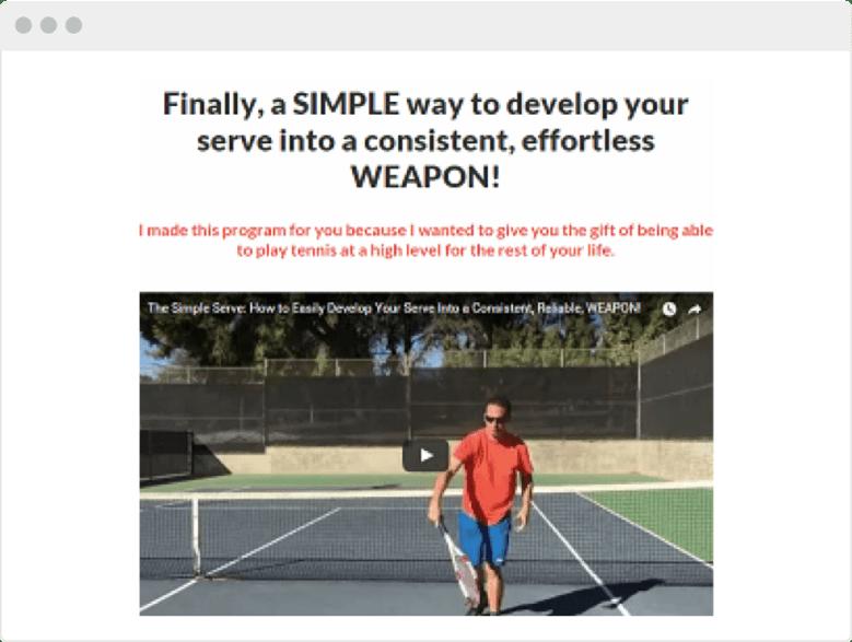 Questo business online aiuta le persone a migliorare il proprio gioco di tennis