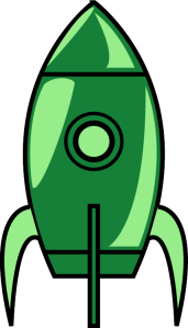 Growth Money Mindset Home Page Image - Rocket Ship Clipart (Green)