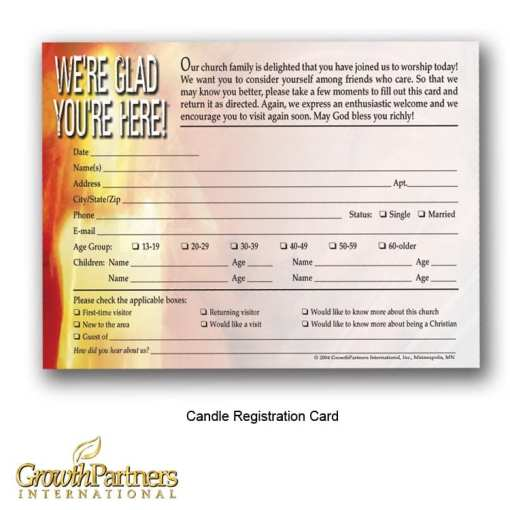 english candle visitor registration card