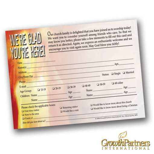 candle registration card