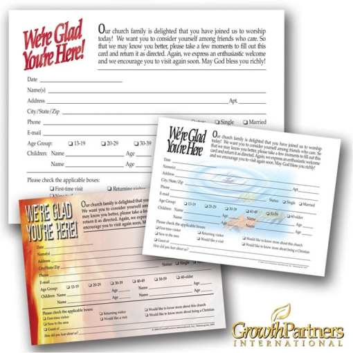 english visitor registration cards